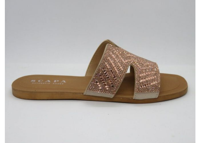Damesschoenen Scapa Slipper / band vast 21/2028 Rose Goud
