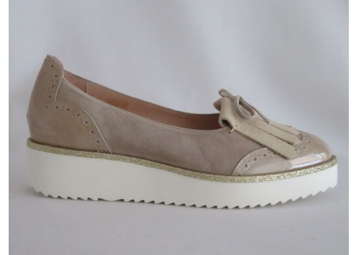 Damesschoenen Softwaves Mocassin 7.39.07 Beige/goud