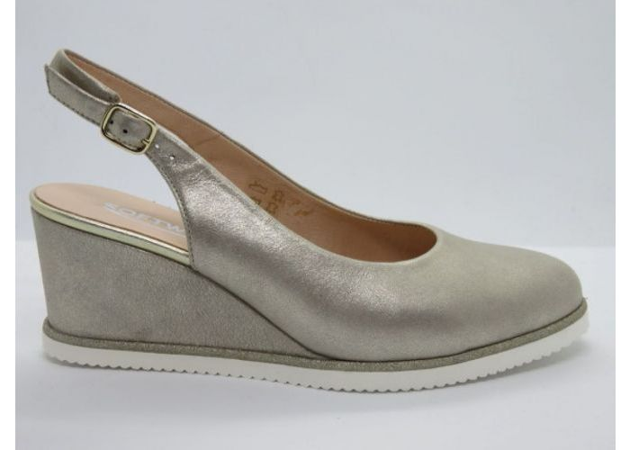 Softwaves 13307 Sling back Beige/goud